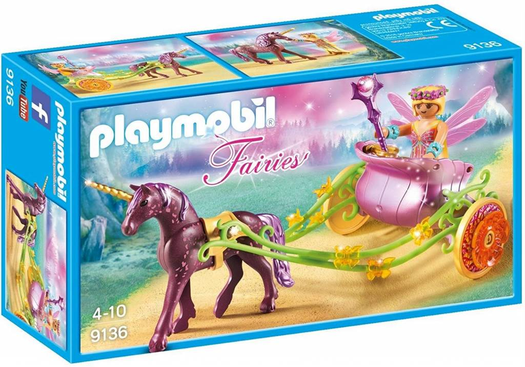 Playmobil Playmobil 9136 Unicorn-Drawn Fairy Carriage