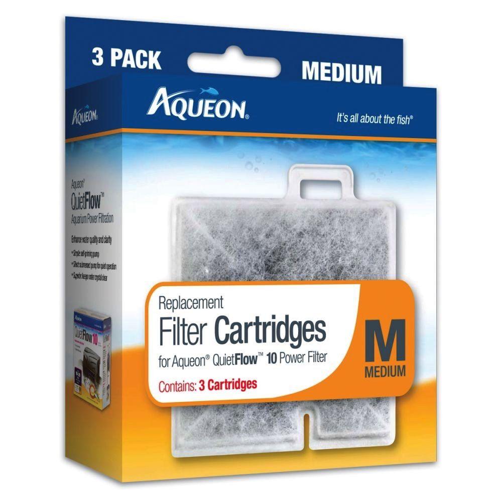 AQUEON Aqueon Replacement Filter Cartridge Medium 3pk