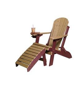 byleru0027s patio folding adirondack chair w footrest - Folding Adirondack Chair