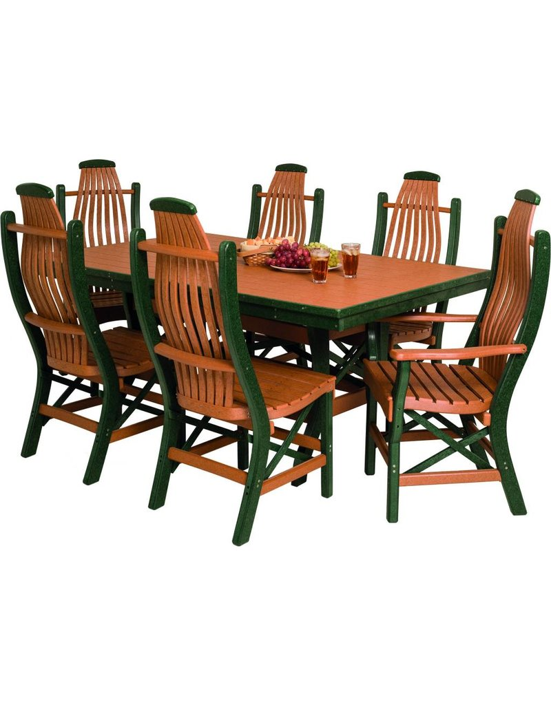 Byleru0027s Patio Rectangle Table W/ Bentwood Chairs