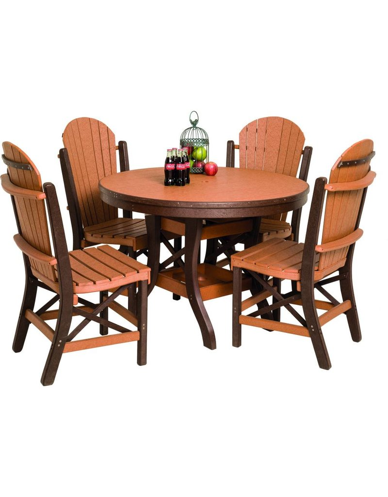 Byleru0027s Patio Round Table And Fanback Side Chairs Set