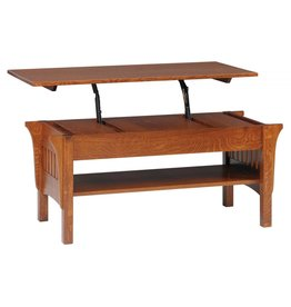 Quality Fabrications Mission Lift Top Coffee Table