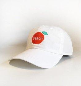 Unisex Velcro White Cap