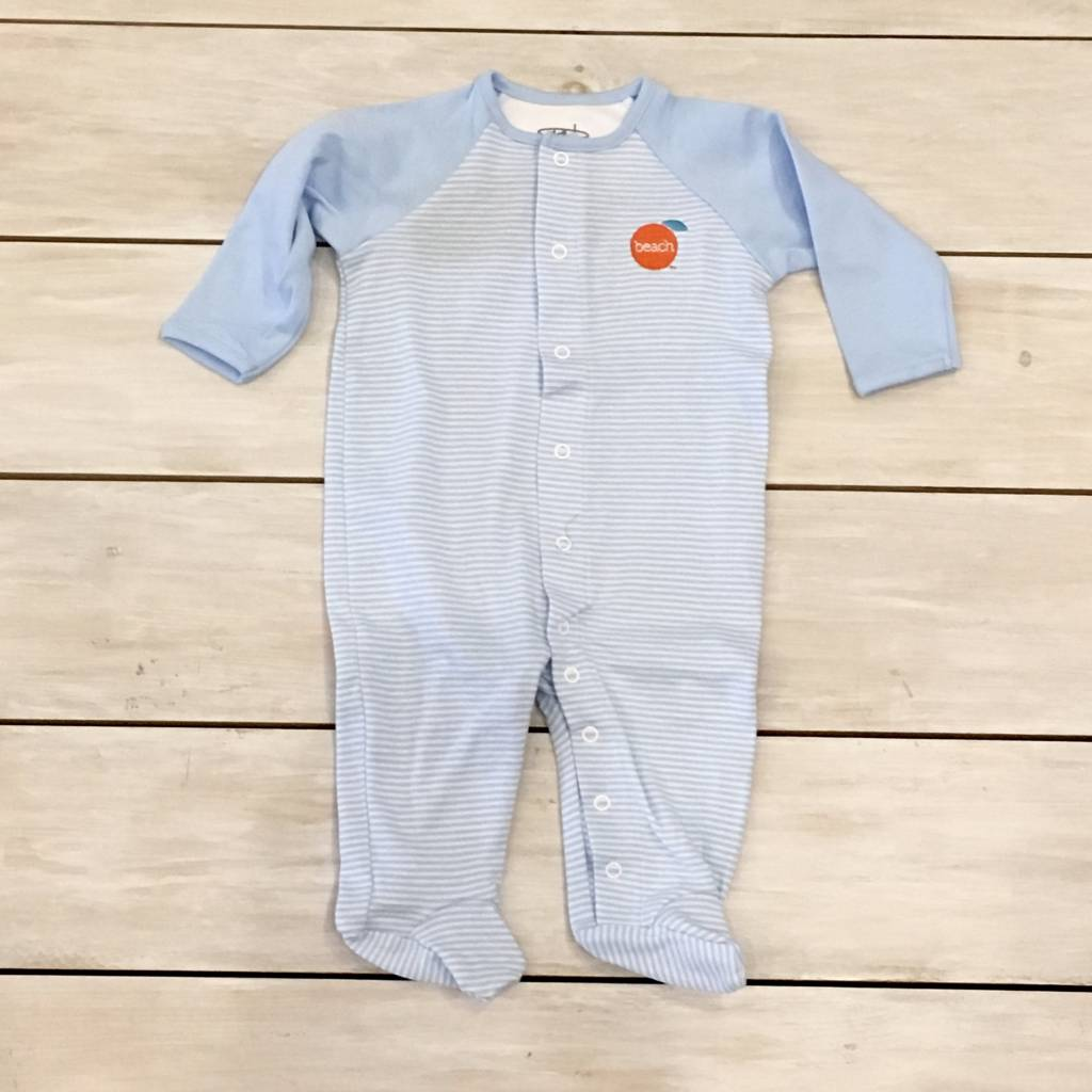 The Orange Beach Store Footed Romper