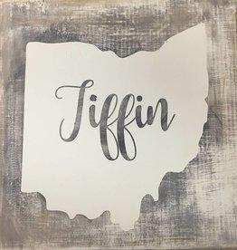 Tiffin Grey/Cream Sign 11.5x11.5