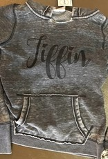 Tiffin Grey Hooded Sweatshirt