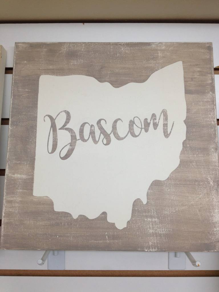 Bascom Grey/Cream 11.5x11.5 Sign