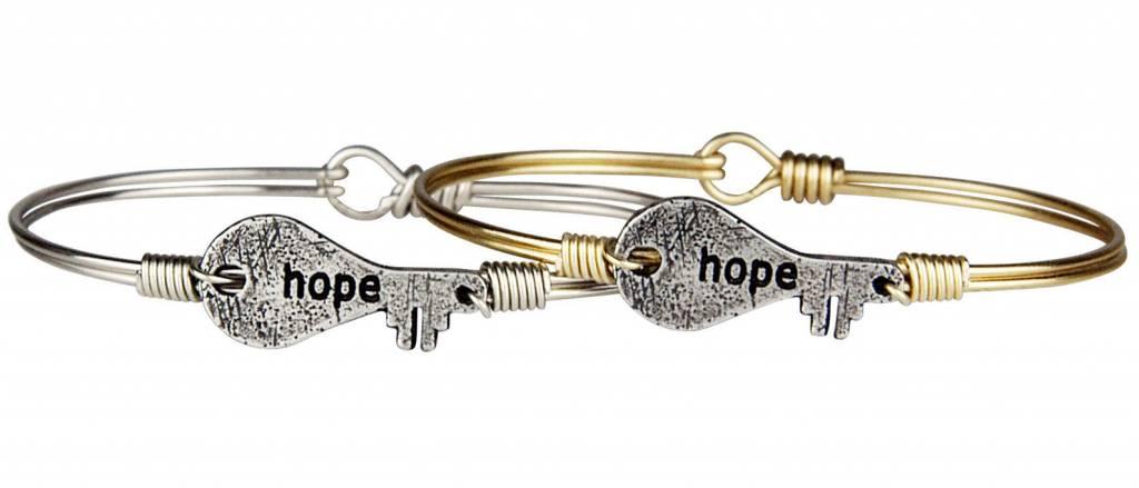 HOPE KEY ON BRASS