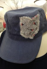 Erin Plaid Ohio Cadet Hat Slate Blue