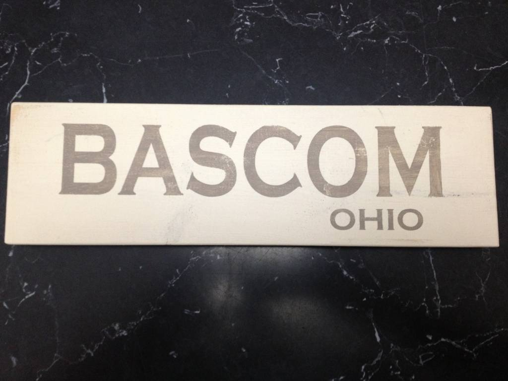 Bascom 4x12  Grey/Cream Sign