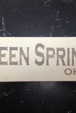 Green Springs 4x12 Grey/Cream Sign