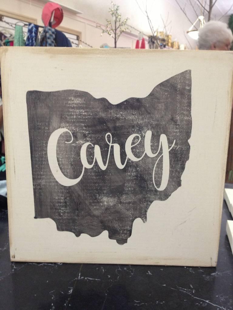 Carey 11.5x11.5 Cream/Grey Sign