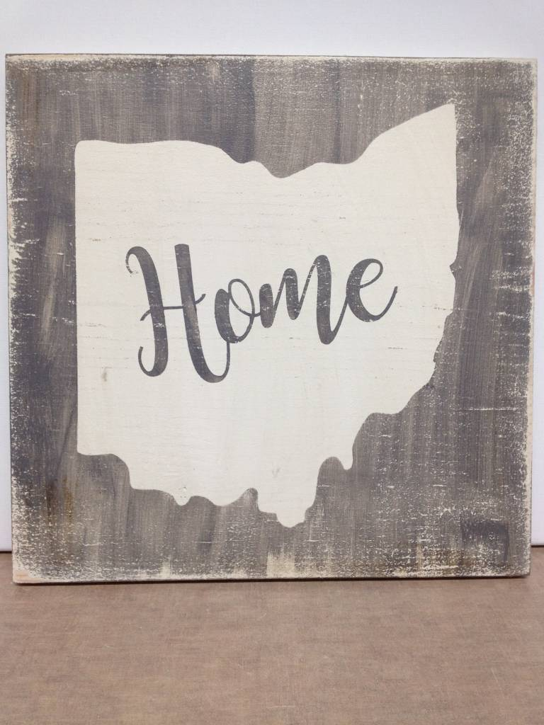 Home 11.5x11.5 Grey/Cream Sign