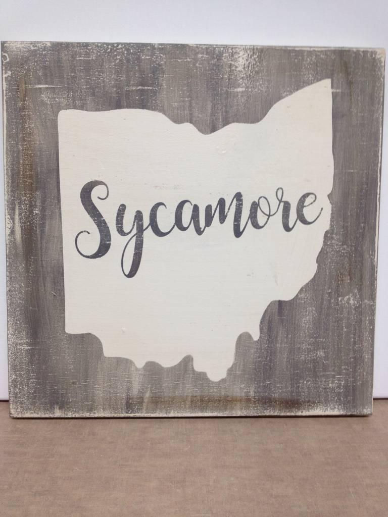 Sycamore 11.5x11.5 Grey/Cream Sign