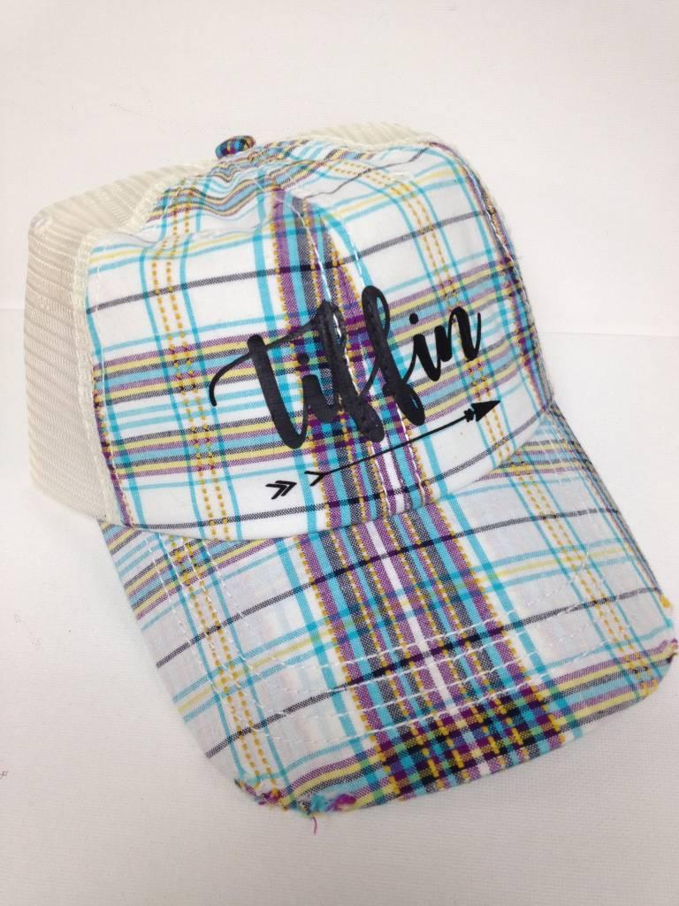 Cool Plaid Tiffin Trucker Hat