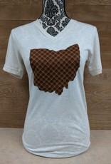 Ohio Plaid Lewis V Neck T Shirt