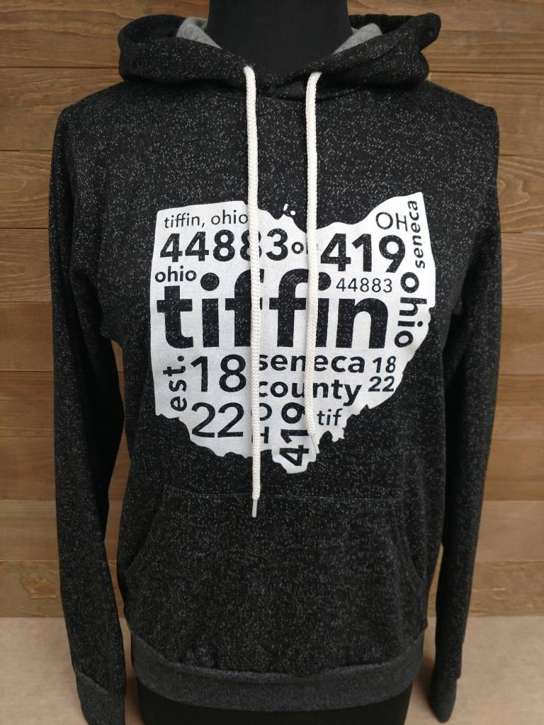 2017 Tiffin Black Speckled Sweatshirt