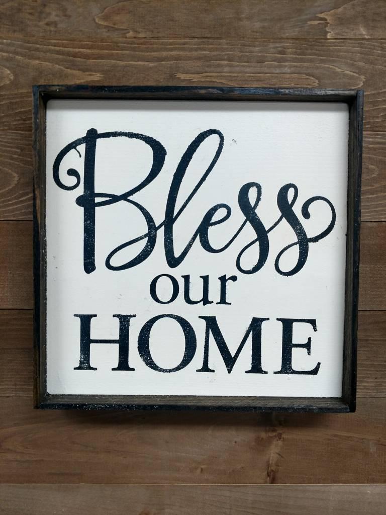 12x12 BLESS OUR HOME  FRAMED