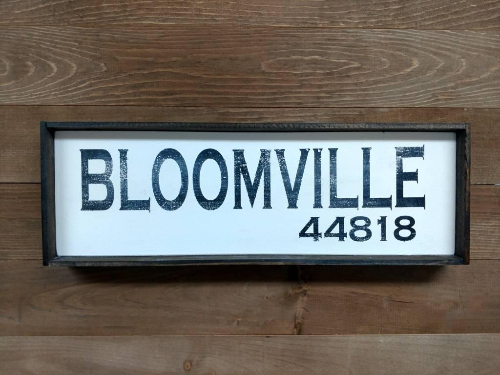 Bloomville 6x18 Framed