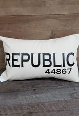 City Zip Pillow- Republic