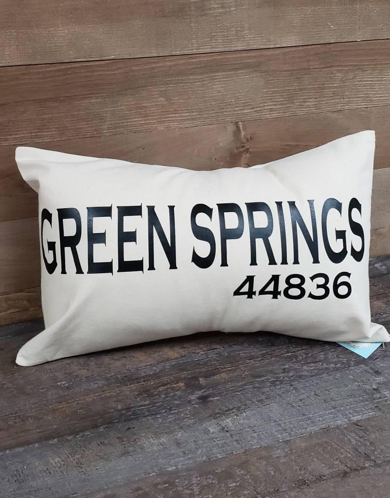 City Zip Pillow Green Springs