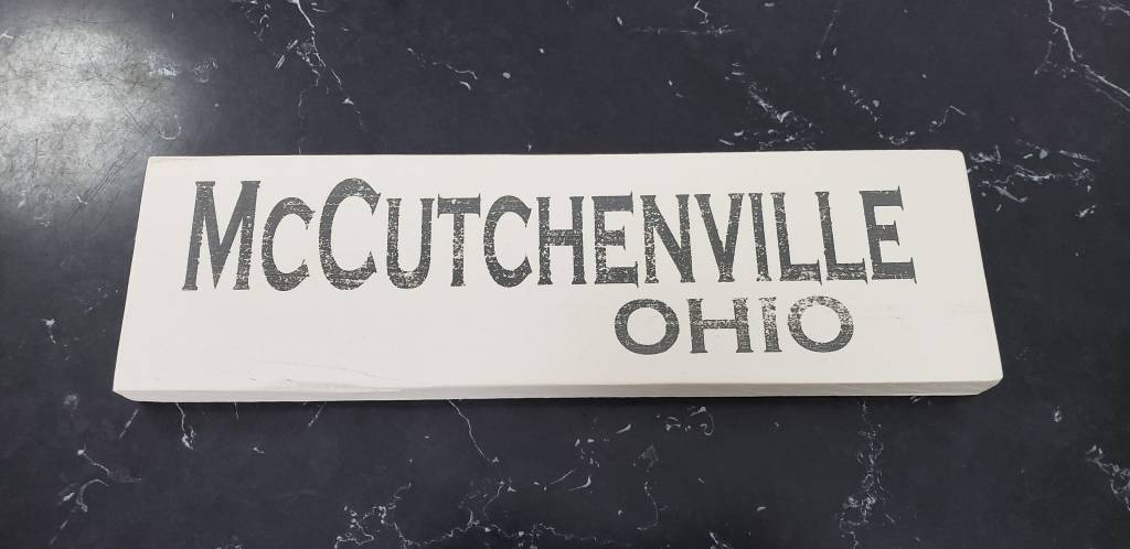 McCutchenville 4x12 Grey/Cream Sign