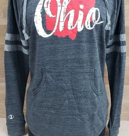 Ohio Charcoal Gray  Hoodie