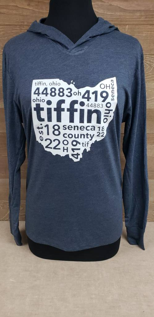 Tiffin 2017 Blue Hooded Shirt