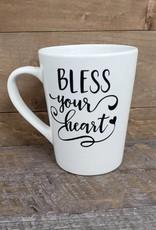 BLESS YOUR HEART WHITE MUG