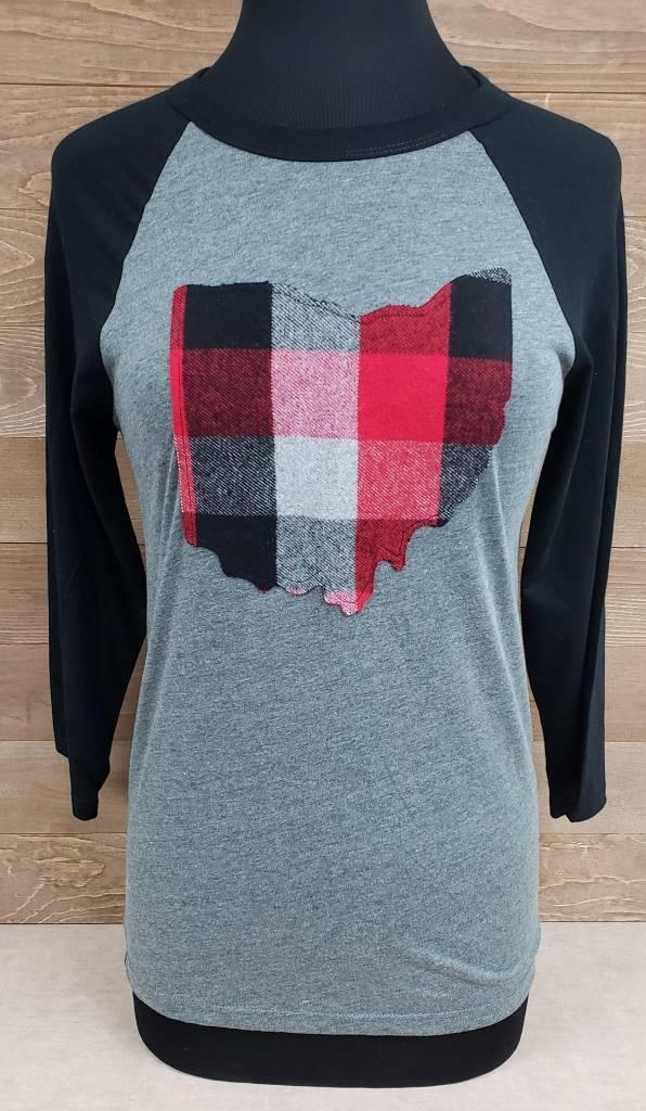 Ohio Plaid Rylan Black Sleeve