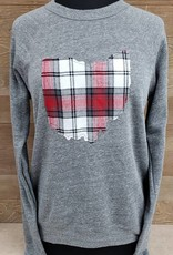 Ohio Plaid Noah Gray Crew Neck Sweatshirt