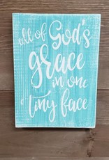 7x10 All of God's Grace Teal/Cream