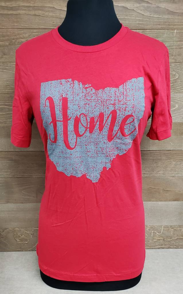 Home Red w/ Gray Ohio Crew Neck
