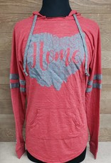 Home Red w/ Gray Ohio Striped Hoodie