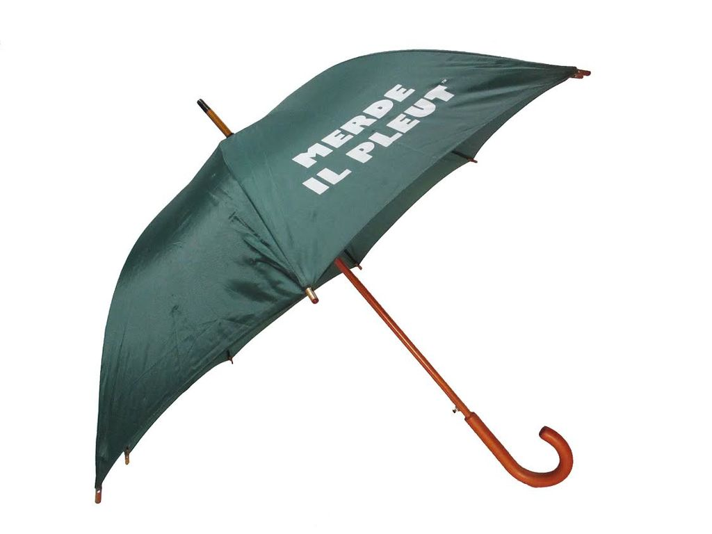 CarefulPeach Forest Green Full Length Umbrella