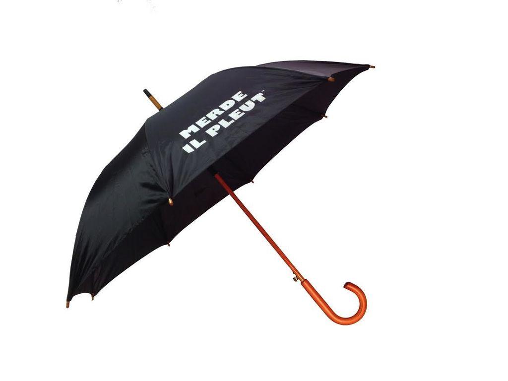 CarefulPeach Black Full Length Umbrella