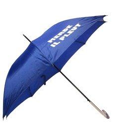 CarefulPeach Blue Full Length Umbrella- fiberglass with with text