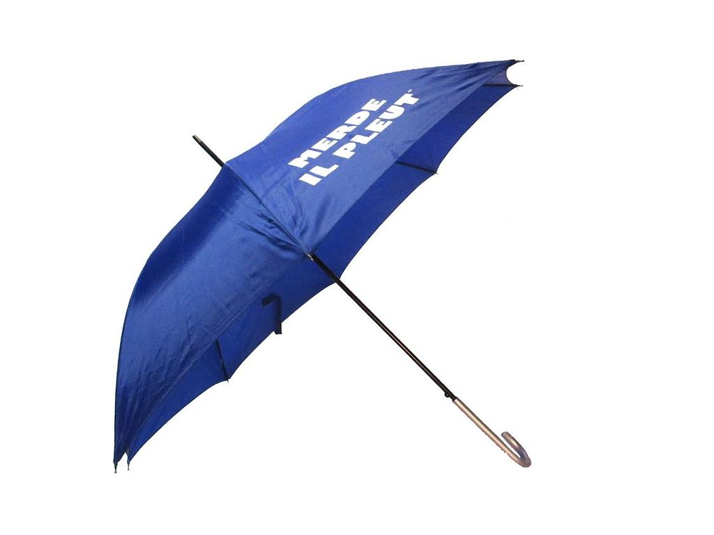 CarefulPeach Blue Full Length Umbrella