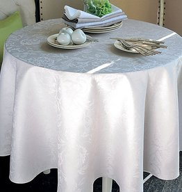 "Garnier Thiebaut Mille Charmes in Nacre 71"" Round Tablecloth"