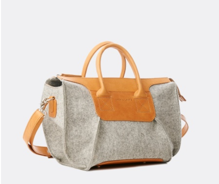 "Wedding Registry Graf & Lantz ""Frankie"" Grey Satchel- Brittney & Caleb's Registry"