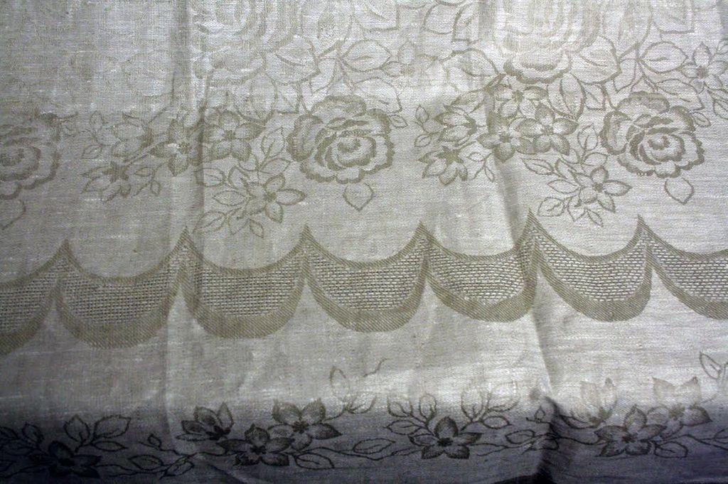 Wedding Registry Vintage Linen Table Cloth