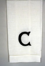 """Linen Hand Knotted Hand Towel  """"C""""- Brittney & Caleb's registry"""