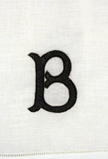 """Linen Hand Knotted Hand Towel  """"B""""- Brittney & Caleb's registry"""