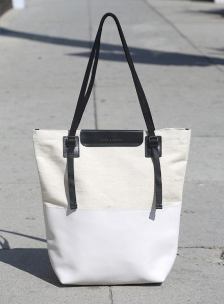 Graf & Lantz White Leather Tote