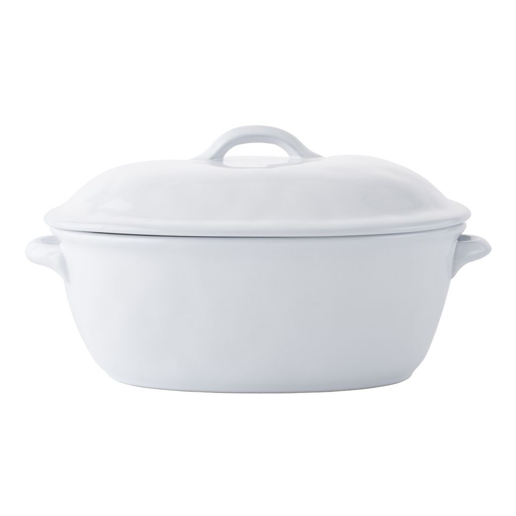 "Wedding Registry Quotidien White Truffle 13.5"" Covered Casserole- Michelle & David's Registry"