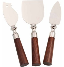 3 Piece Cheese Knife Set with Acacia