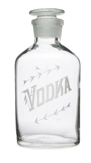 Wedding Registry Vodka Decanter- Elizabeth & Mike's Registry