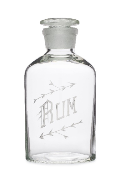 Wedding Registry Rum Decanter- Elizabeth & Mike's Registry