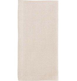 Cream Herringbone Linen Napkin