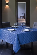 "67 x 67"" Anneaux Tablecloth in 'Ultramarine'"